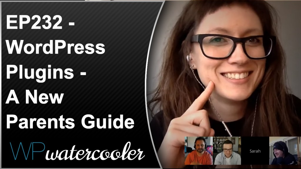 Ep232 - wordpress plugins - a new parents guide - wpwatercooler 3