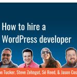 Ep9 how to hire a wordpress developer dev branch yt