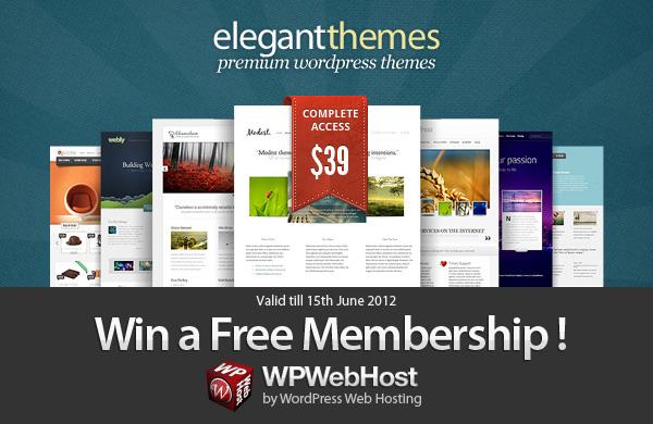 Tweet and Win Elegant Theme Giveaway by WPWebHost