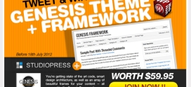 Tweet and Win Studiopress Genesis Theme + Genesis Framework: Winner Announced