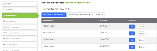 configuring_domain_NS_servers DNS for WordPress Admins – Domain, Registrars & DNS Records