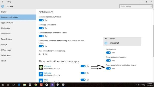 Control Windows 10 App Notifications
