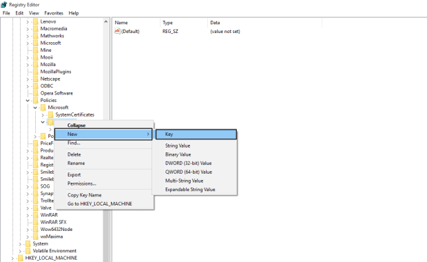 Disable Action Center in Windows 10