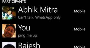 Group Chat in WhatsApp
