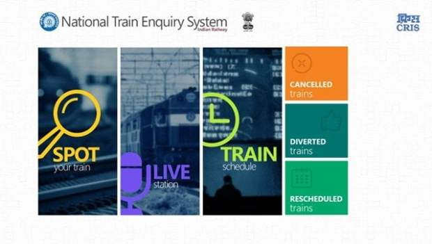 Download Official Indian Railways Train Enquiry App for Windows 10