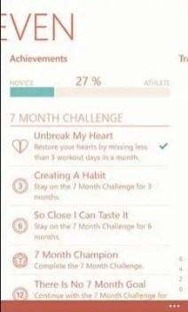 Seven minute achievements
