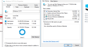 free storage space Windows Update