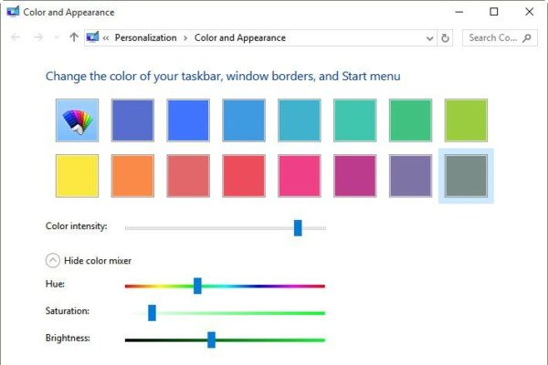 Select Custom Accent Color for Taskbar and Start Menu in Windows 10