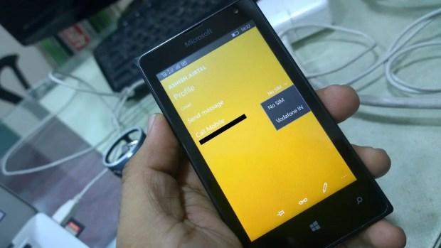 Windows 10 Mobile Default SIM