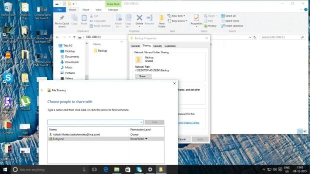 create a full backup of Windows 10 on a USB drive