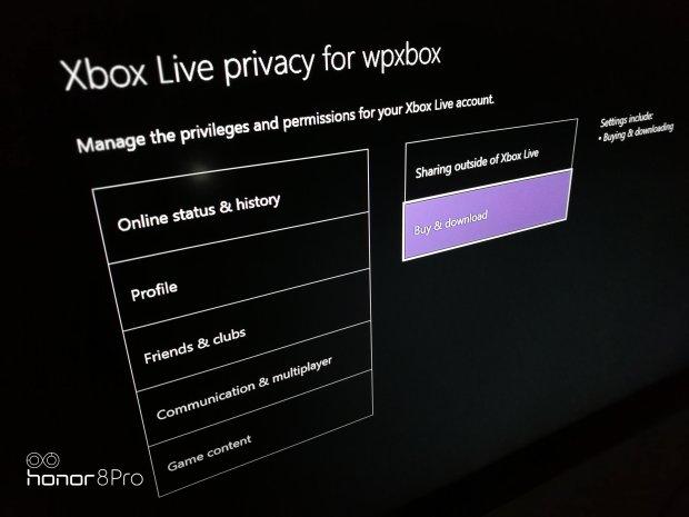 Cnfigure Xbox Live Privacy