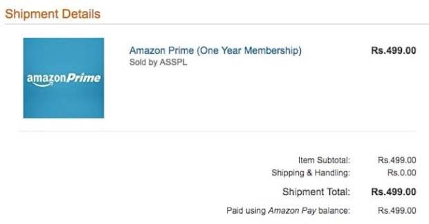 Amazon Prime Video Plan