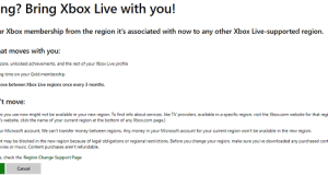 change migrate xbox country