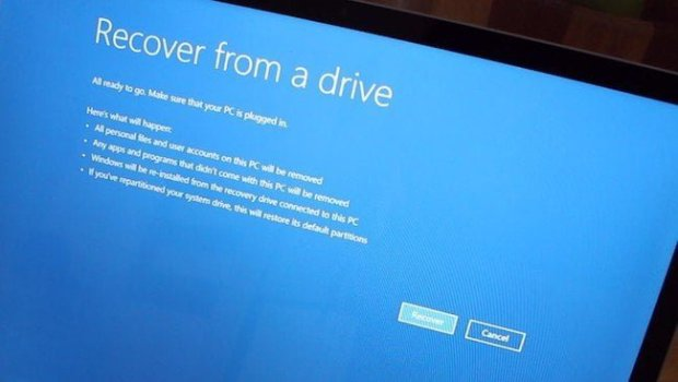 Recover from a drive Windows 10S
