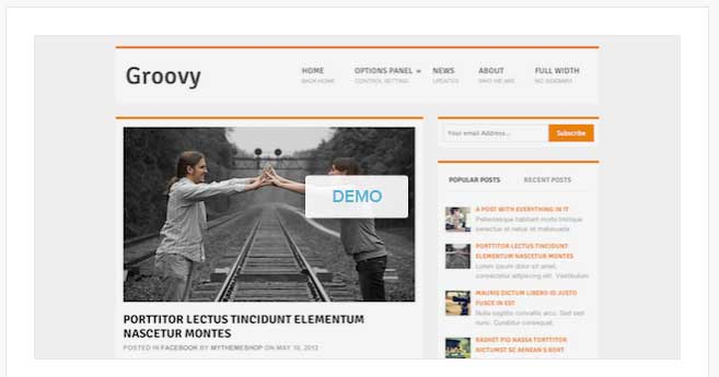groovy wordpress theme