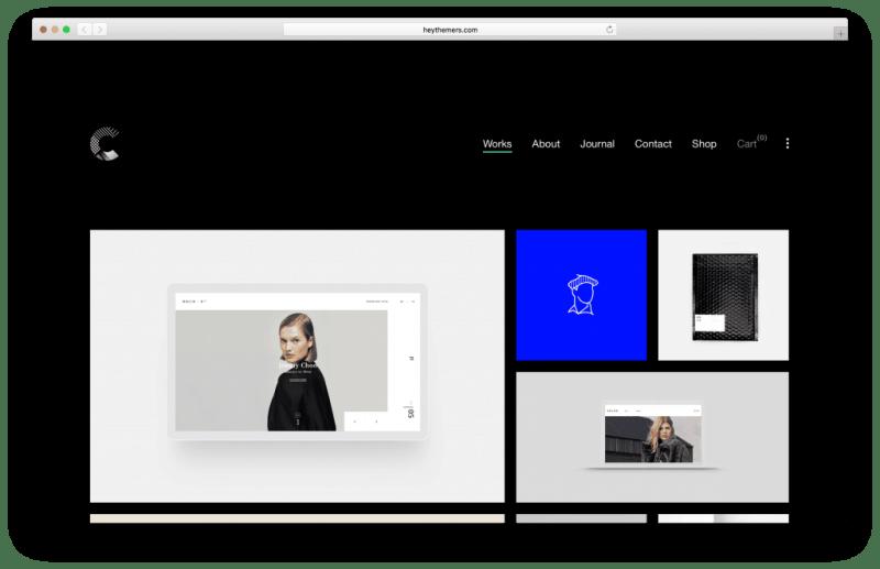 Calafate WordPress portfolio theme screenshot