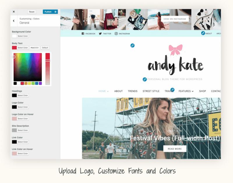 Customize fashion blog.