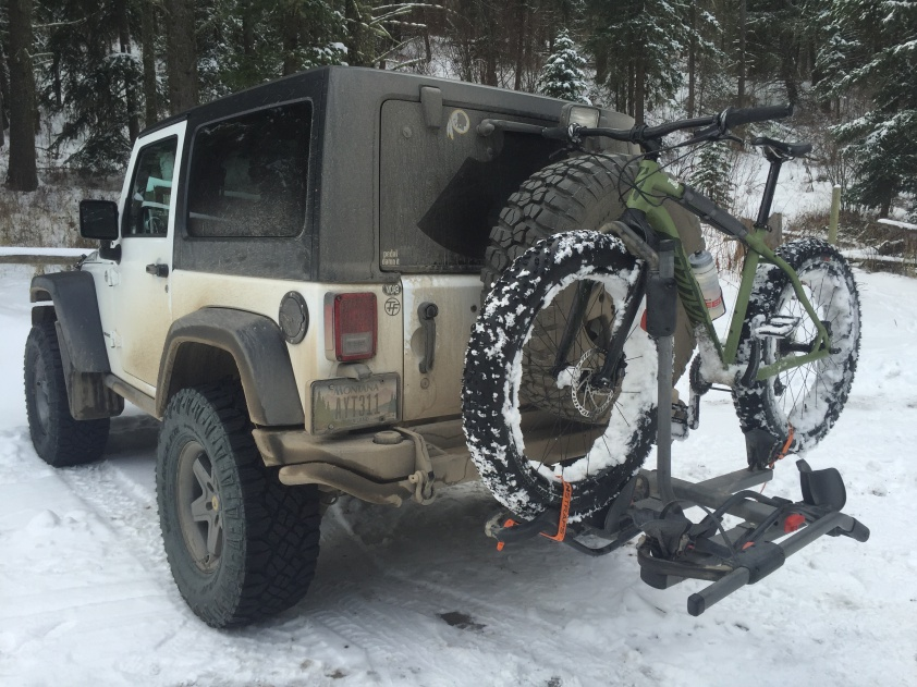 hitch mount bike rack for jk with