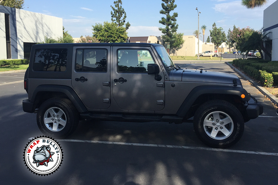 Custom Matte Wrap, Matte Gray Jeep Wrap.