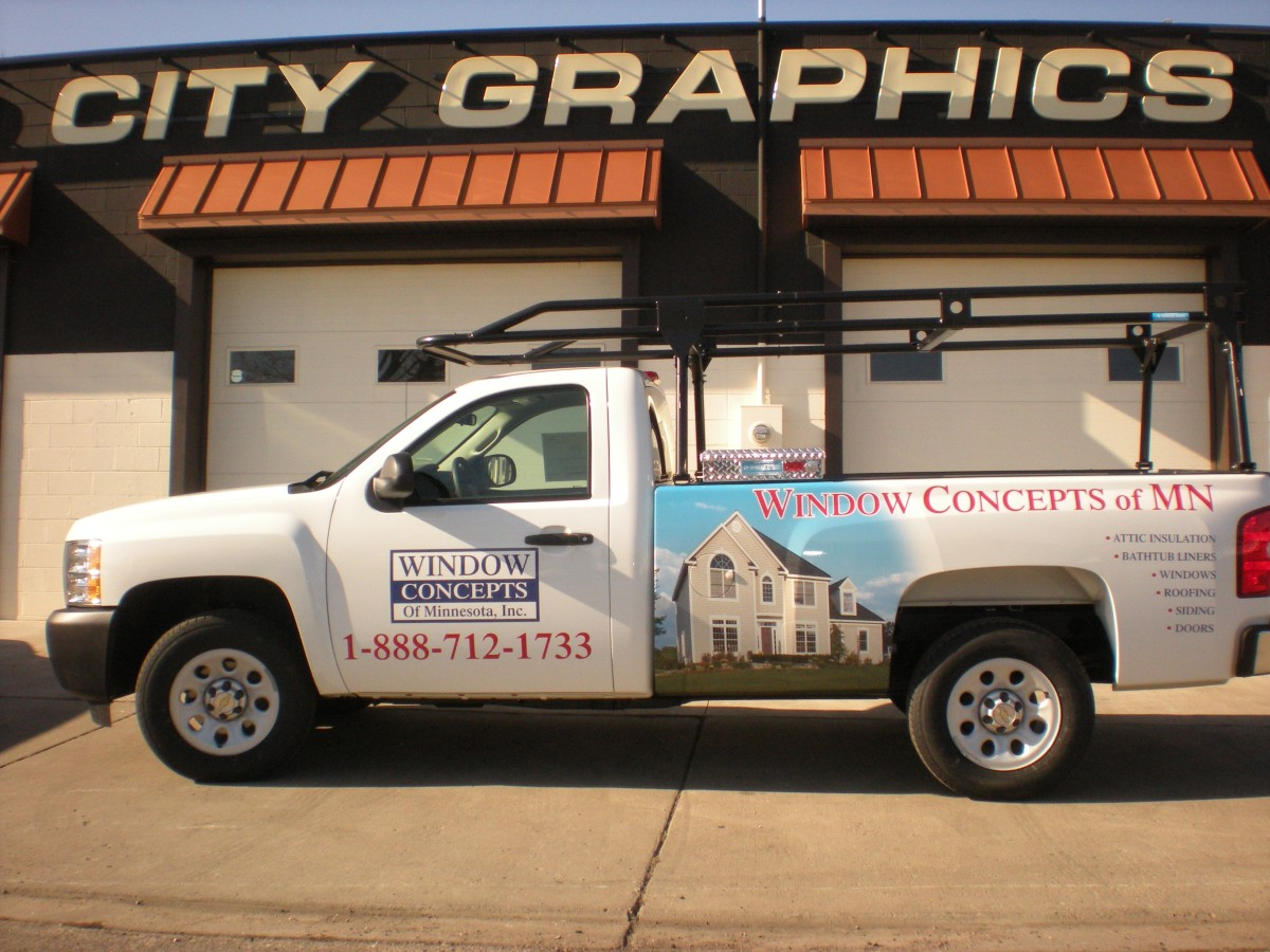 Pickups Large Trucks  Trailers  Wrap City Graphics