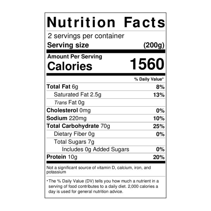 Tomato and basil pizza base nutritional info