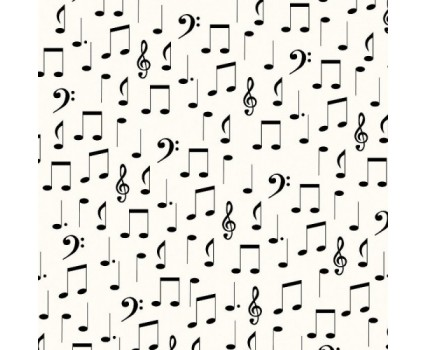 Music Notes Printed on Parchment colored Tissue Paper (20