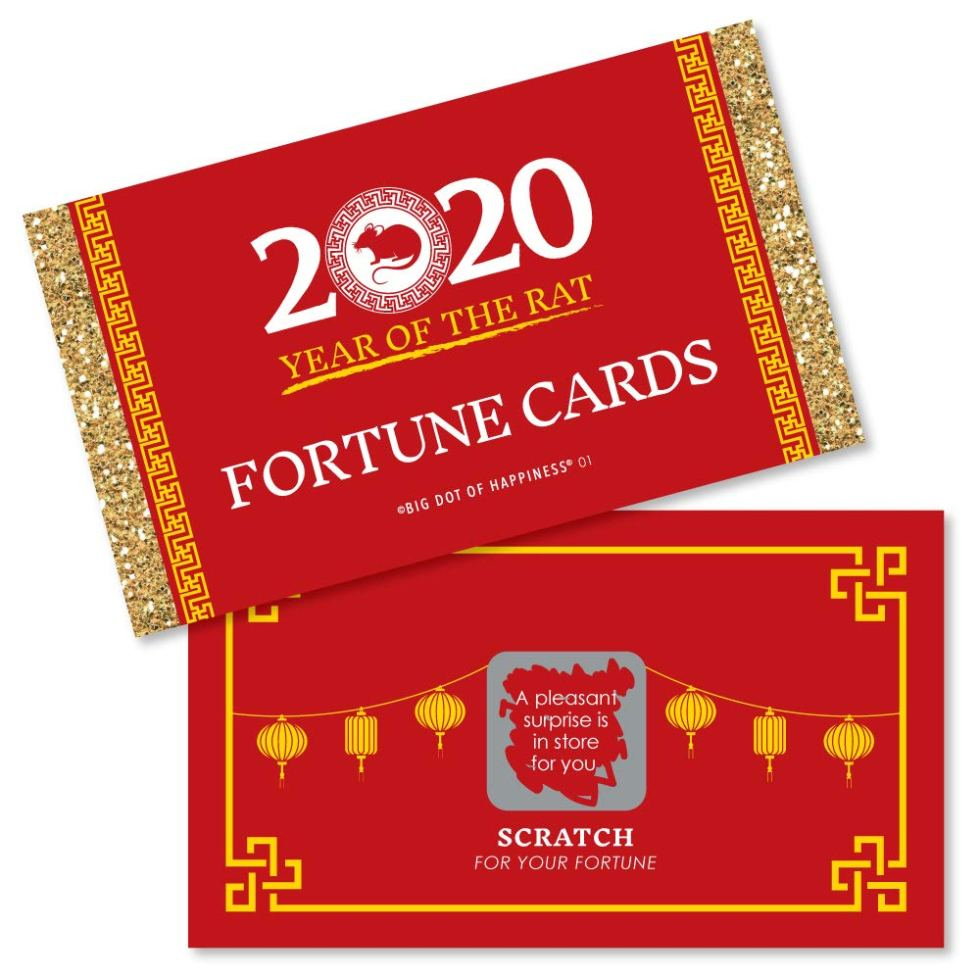 Year of the Rat Fortune Cards