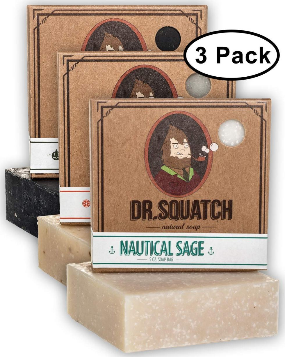 Dr Squatch 3-Pack natural soap gift