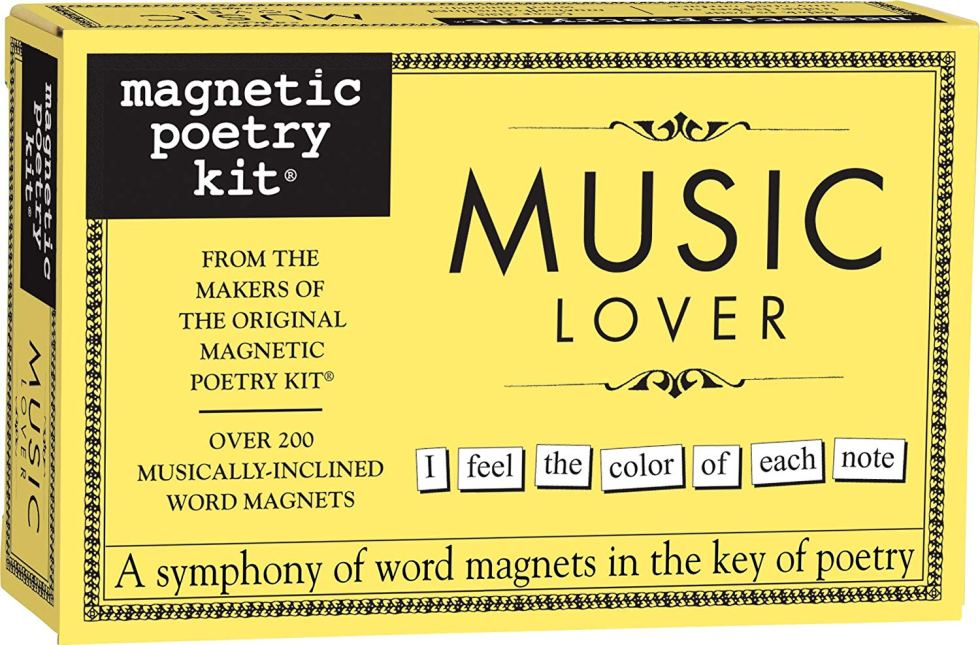 Magnetic Poetry Kit Gift for Music Lovers