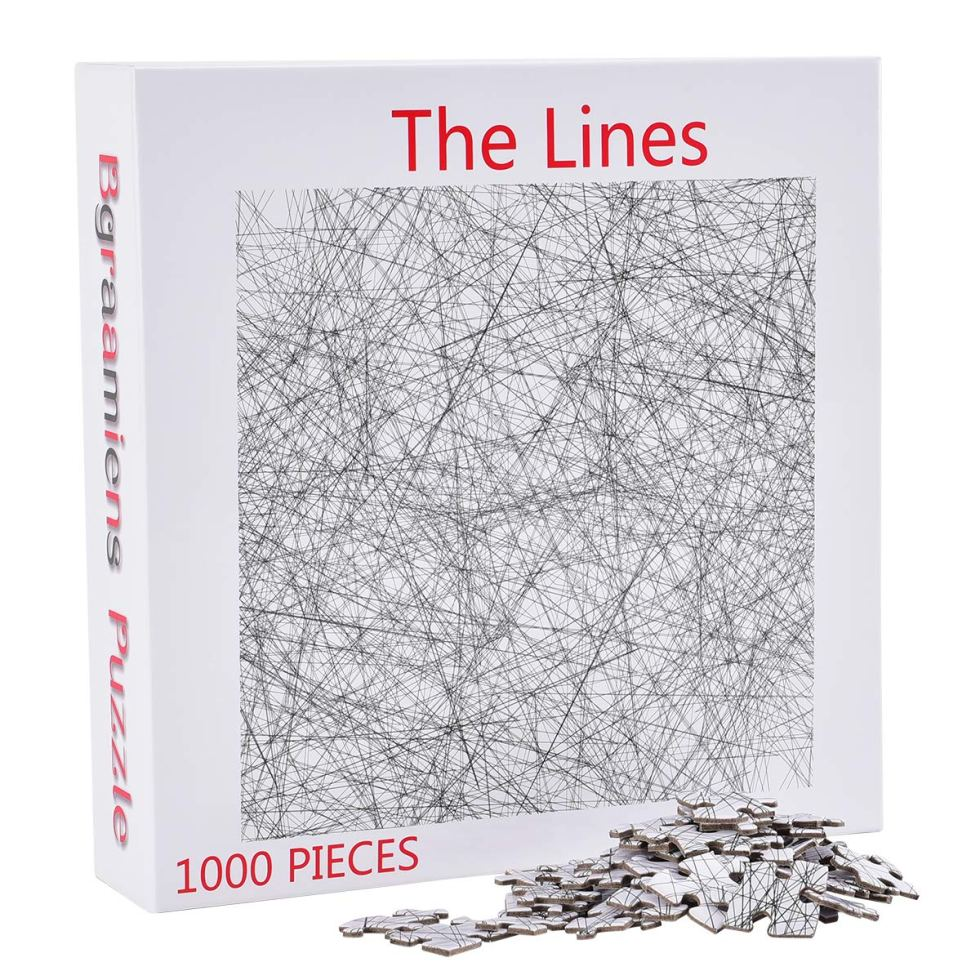 The Lines Jigsaw Puzzle gift for lovers of difficult jigsaw puzzles