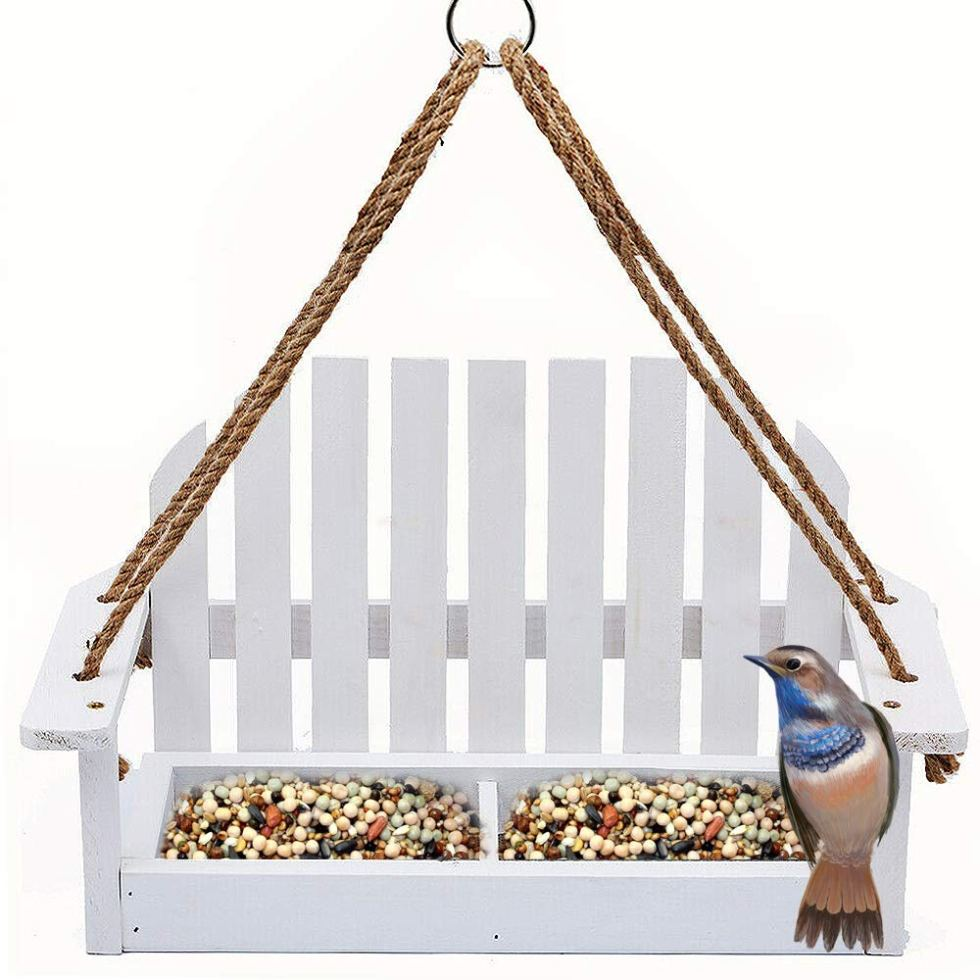 Wooden Swing Chair Bird Feeder for birding