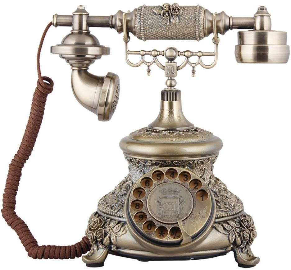 Brass phone for vintage rotary phone lover!