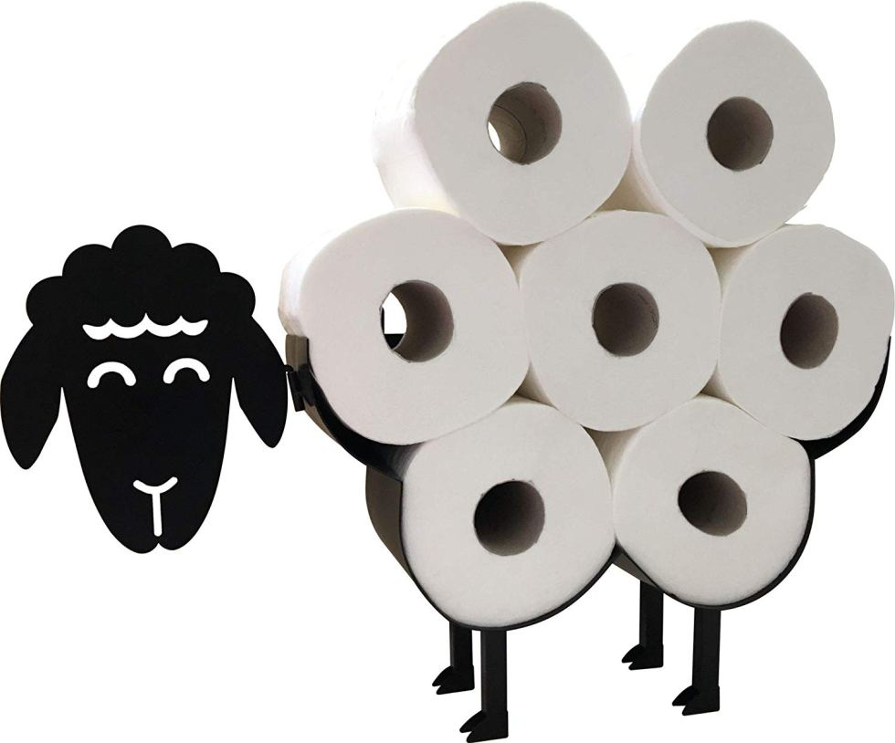 Black sheep toilet paper holder