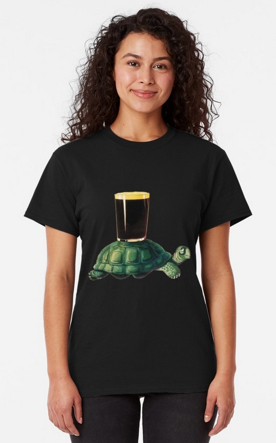 Turtle and Pint Tee for Guinness gifts