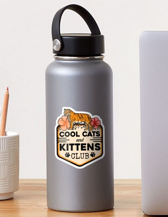 Cool Cats and Kittens Club sticker Tiger King gifts