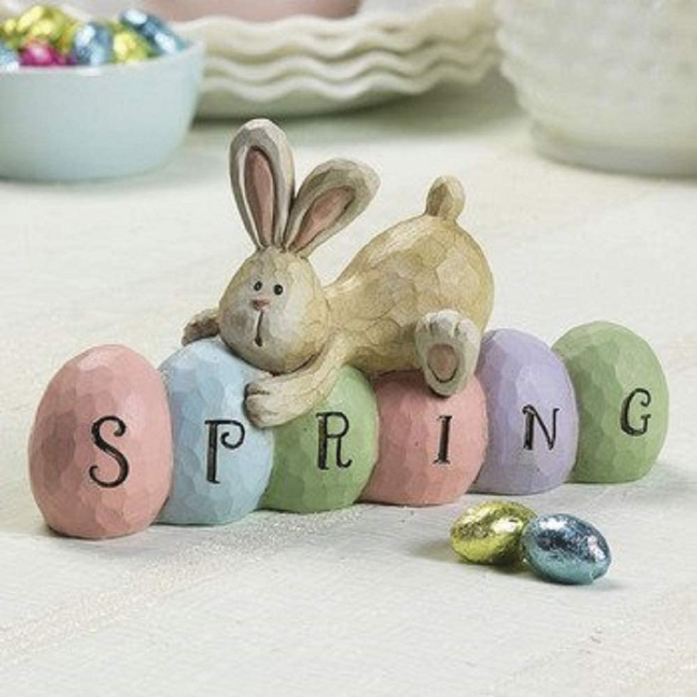 Spring bunny decorations for gifts