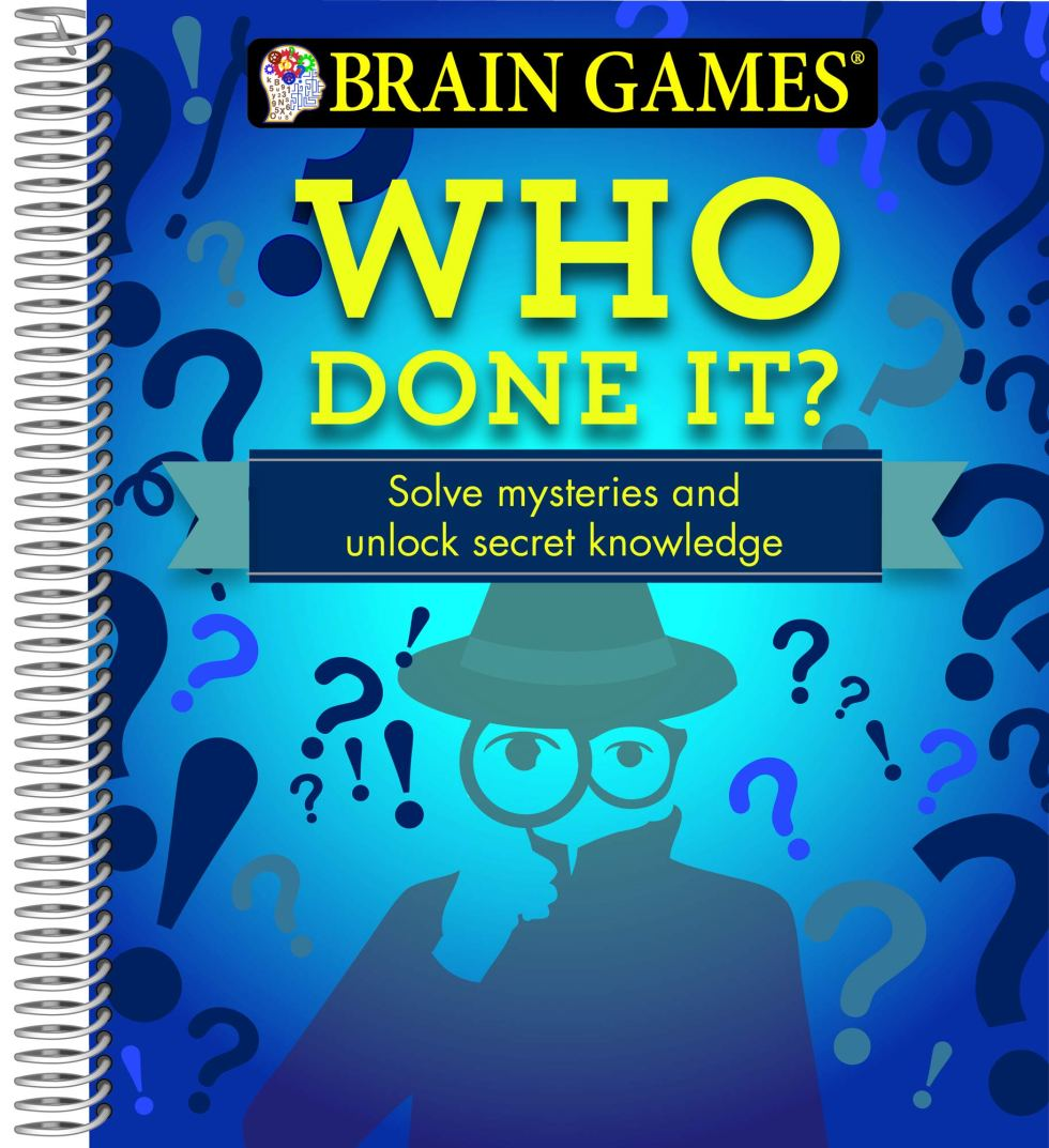 Who Done It mystery puzzles for gifts