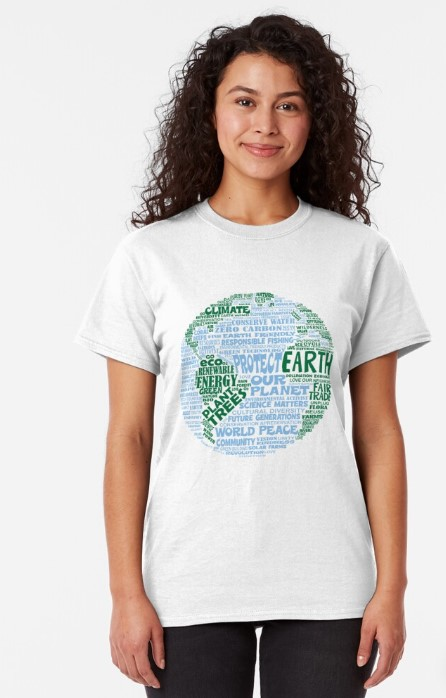 World of Words Tshirt Earth Day gifts