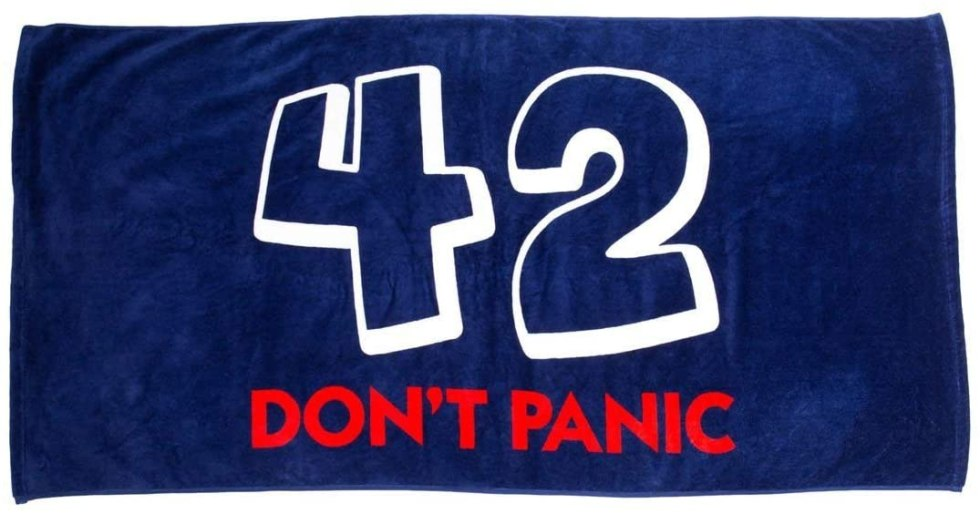42 beach towel Hitchhikers Guide to the Galaxy gifts
