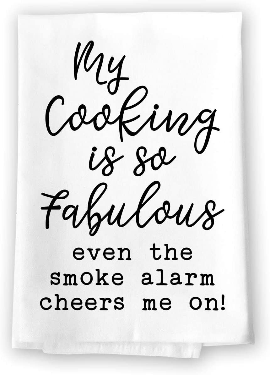 Cooking is fabulous funny dish towel for gifts