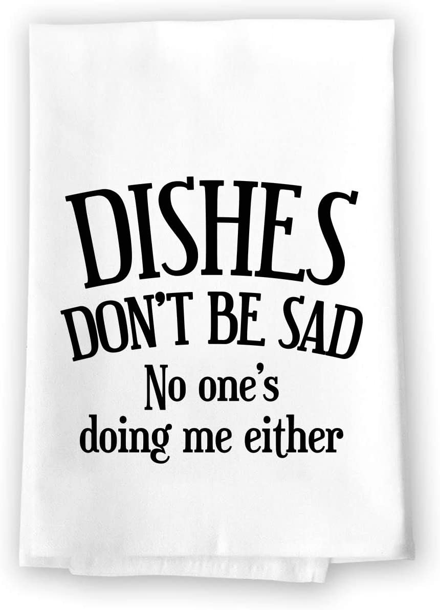 Dishes don't be sad funny dish towels for gifts