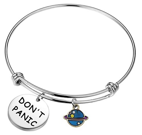 Dont Panic bracelet Hitchhikers Guide to the Galaxy gifts