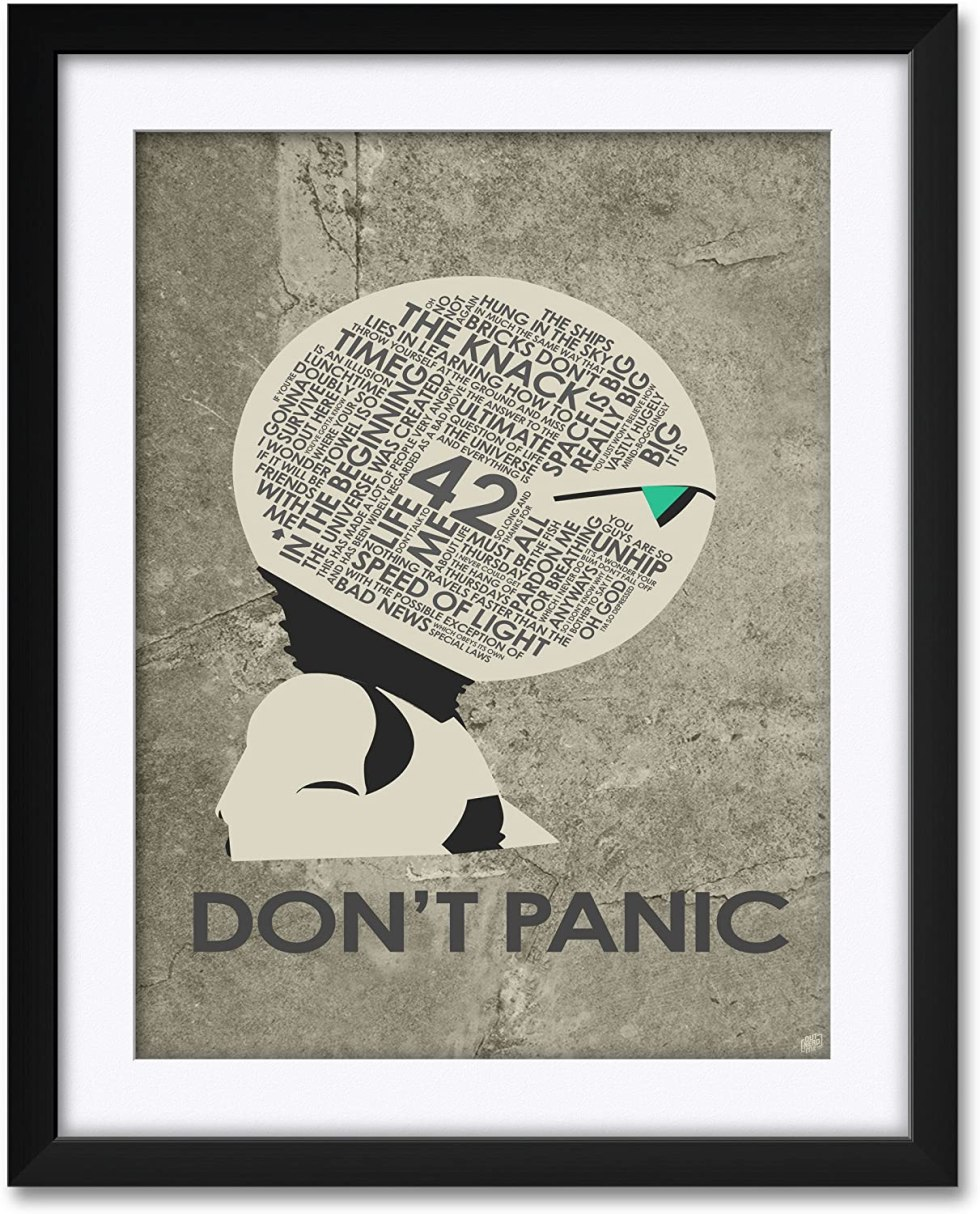 Dont Panic poster Hitchhikers Guide to the Galaxy gifts
