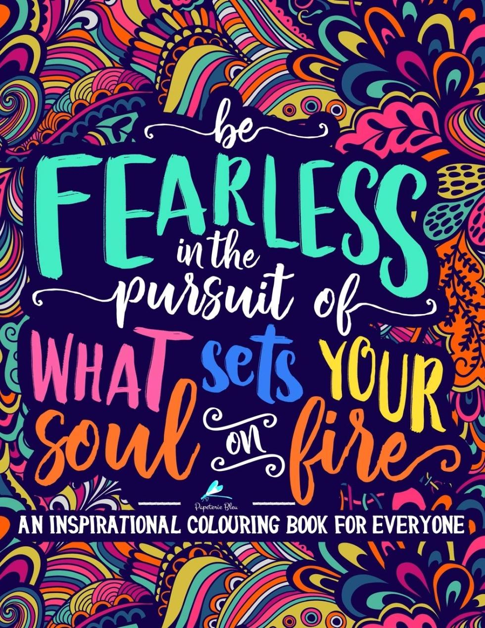 Fearless coloring book inspirational gift
