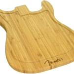 Fender cutting board music themed kitchen utensil for gifts