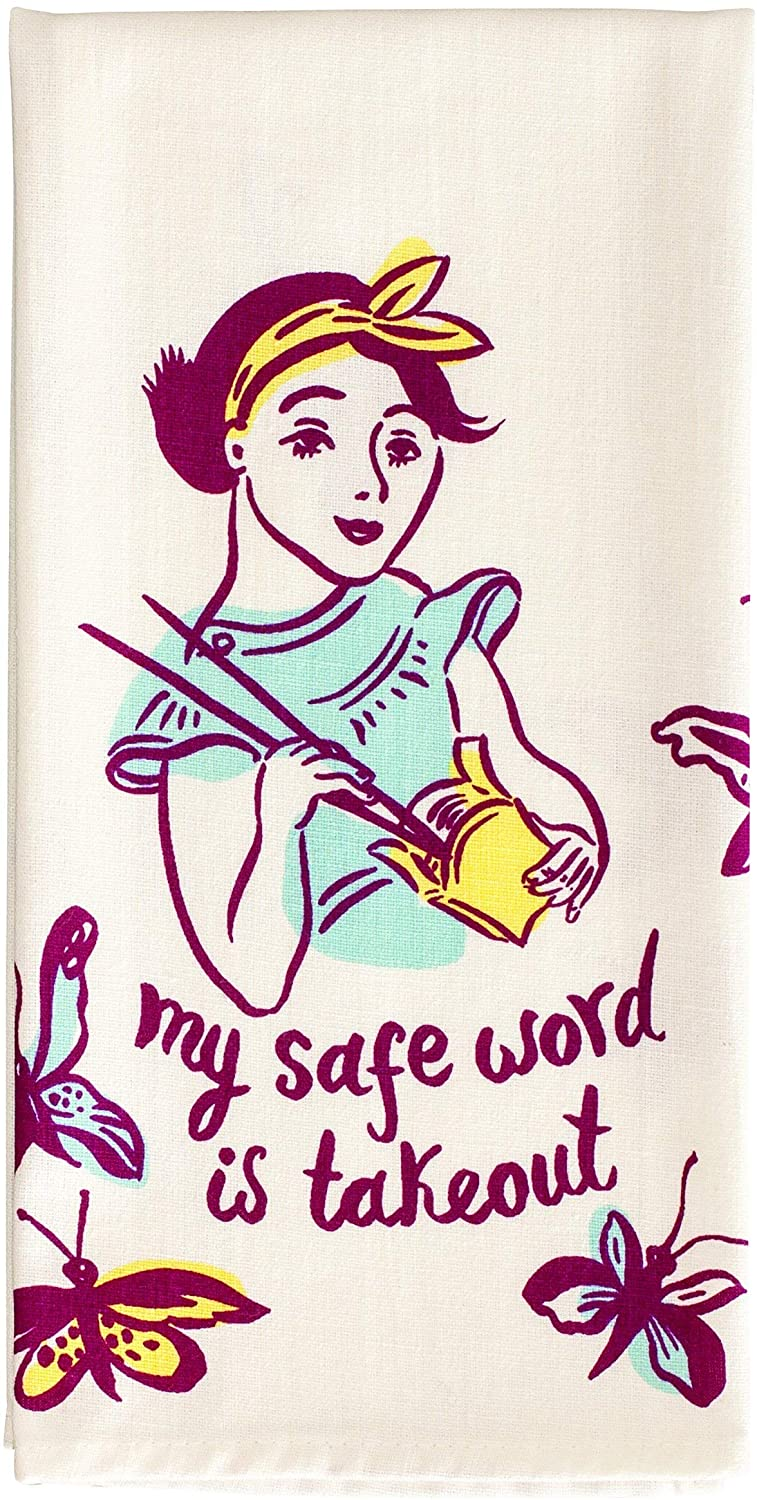 Safe word is takeout funny dish towel