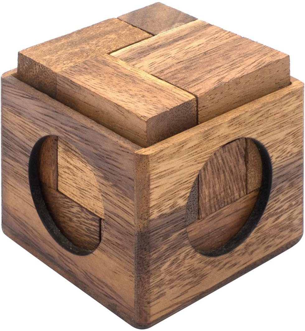 Wooden puzzle box brain teaser puzzle gifts