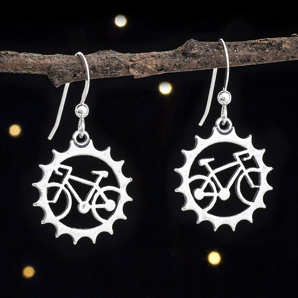 Bicycle earrings gifts for bikers
