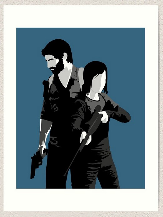 Last of Us print zombie gifts