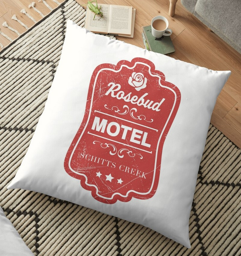 Schitts Creek Rosebud floor pillow